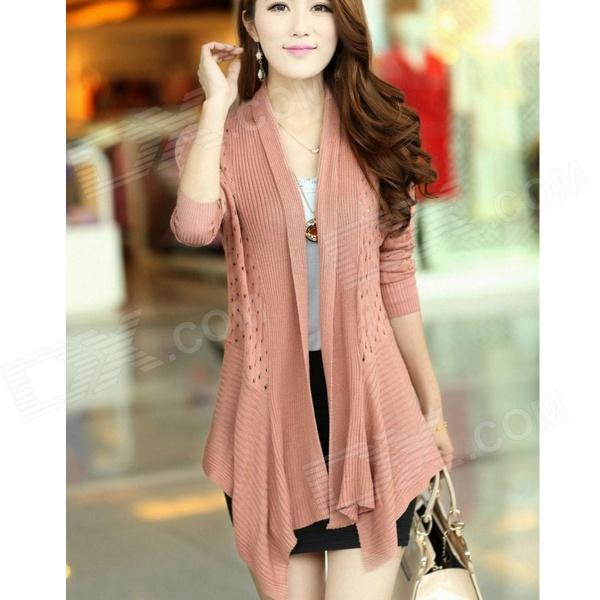 XZY W5832 New Slim Fit Long-sleeved Cardigan - Pink (Free Size)