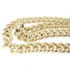 "Choker New Shiny Cut LIGHT Gold Plated Chunky Aluminum Curb Chain Necklace - Golden Yellow (38"")"