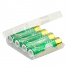 BTY Rechargeable 1.2V 3000mAh AA Ni-MH Battery with Plastic Battery Case - (4 PCS)