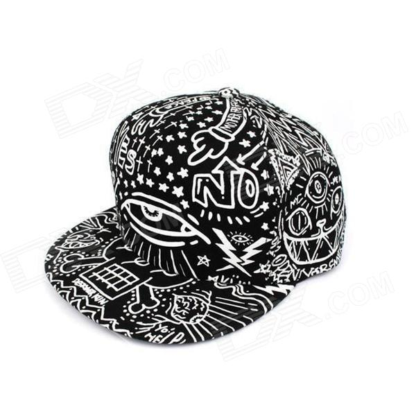 Fashionable Outdoor Canvas Baseball Cap Hip-Hop Style / Hat - Black + White 2017 new fashion brand breathable v ring black snapback caps strapback baseball cap bboy hip hop hats for men women fitted hat