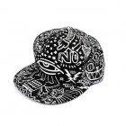 Fashionable Outdoor Canvas Baseball Cap Hip-Hop Style / Hat - Black + White