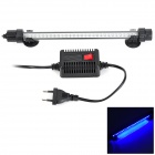 YUGE 2W 32-LED Multi-Color Changing Waterproof Aquarium Lamp - Black + White (EU Plug)