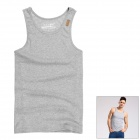TS90 Stylish Men's Slim Vest - Grey (Size-M)