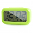 "Portable Automatic Photosensitive 4.5"" LCD Alarm Clock w/ Temperature / Calendar Display - Green"