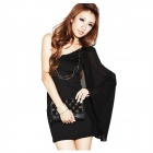 Bao Shen Oblique Strapless Dress - Black