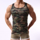 Fashion Military Style Men's Camouflage Vest - Camouflage Green (Size L)