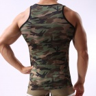 Military Style Men's Camouflage Vest - Camouflage Green (Size L)