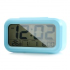 "Portable Automatic Photosensitive 4.5"" LCD Alarm Clock w/ Temperature / Calendar Display - Blue"