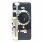Retro Camera Pattern Protective Plastic Back Case for IPHONE 5 / 5S - Dark Grey + White