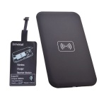 Reverse QI Wireless Charger Pad + Universal Wireless Charger Receiver for Micro-USB Cellphone