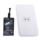 Reverse QI Wireless Charger Pad + Universal Wireless Receiver for Micro-USB Cellphone - White