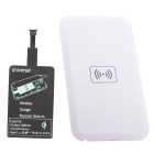 Positive QI Wireless Charger Pad + Universal Wireless Receiver For Micro-USB Cellphone - White