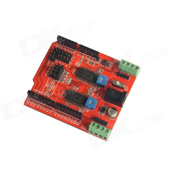 Itead Two Channels Stepper Motor Drive Shield Expansion Board for Arduino - Red l9110s dc motor stepper motor drive board irf520 driver module for arduino red blue