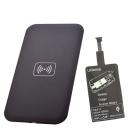 Positive QI Wireless Charger Pad + Universal Wireless Charger Receiver for Micro-USB Cellphone