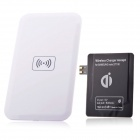 QI Wireless Charger Pad + Wireless Charger Receiver for Samsung Galaxy Note 2 / N7100 - White