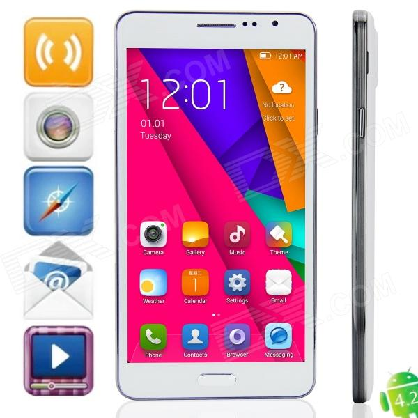 "Coolgen E72 Remarque 3G MTK6582 Quad-Core Android 4.2.2 WCDMA Bar Phone w / 6,0 "", 8GB ROM, Wi-Fi, GPS"