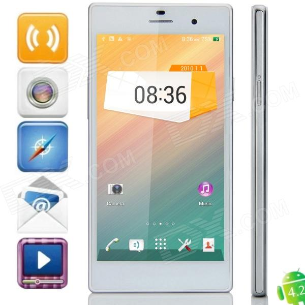 Z2 MTK6592 Octa-Core Android 4.2.2 WCDMA Bar Phone w/ 5.0 IPS HD, 2GB RAM, 8GB ROM, GPS, OTG -White meizu mx3 octa core android 4 2 wcdma bar phone w 5 1 2gb ram 64gb rom white black