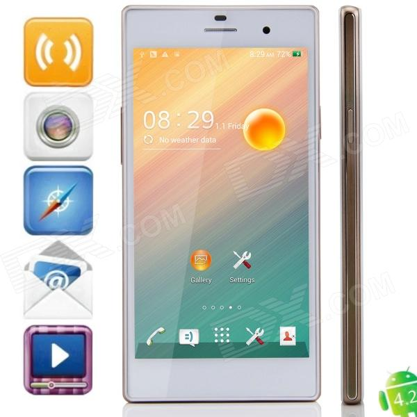 Z2 MTK6592 Octa-Core Android 4.2.2 WCDMA Bar Phone w/ 5.0 IPS HD, 2GB RAM, 8GB ROM, GPS, OTG -White s5 mtk6592 octa core android 4 4 2 wcdma bar phone w 5 0 ips qhd 8gb rom gps otg white