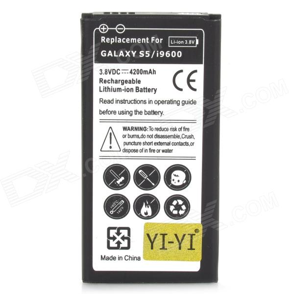 Replacement 3.8V 4200mAh Battery for Samsung Galaxy S5 - Black replacement back camera circle lens for samsung galaxy s5 g900 black