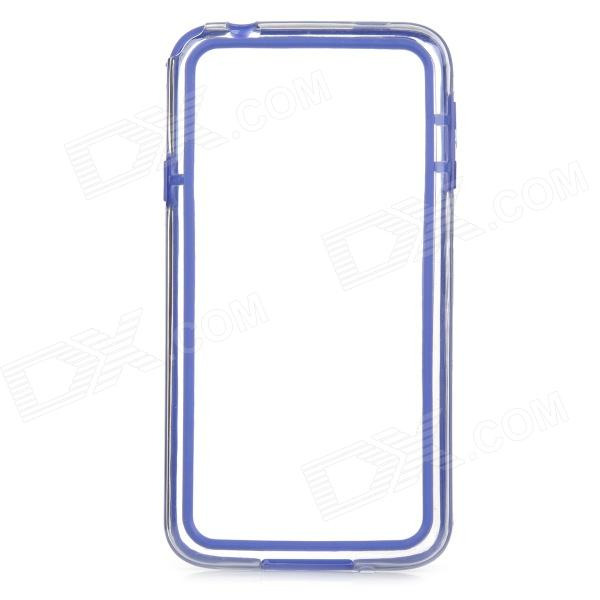 S-What Protective TPU + PC Bumper Frame Case for Samsung Galaxy S5 - Dark Blue + Transparent protective tpu pc bumper frame for samsung galaxy s5 mini green