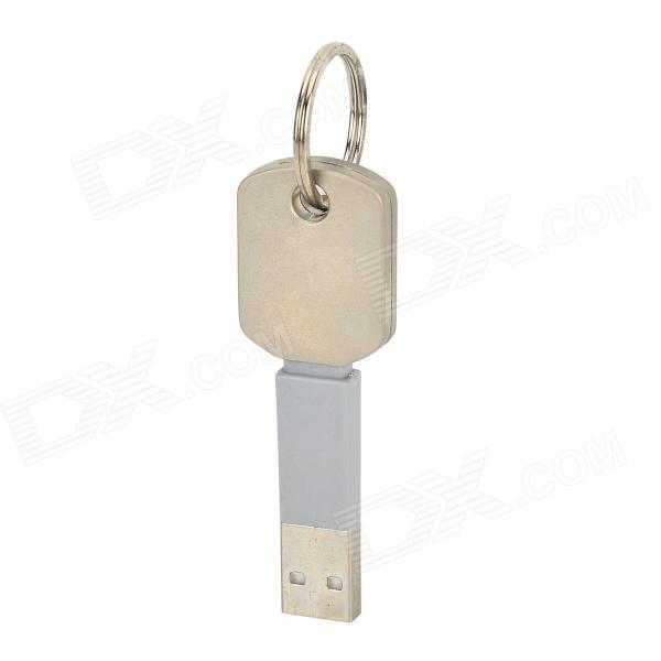 TS007 USB to Micro USB Data Cable Keychain - Grey + SilverCables<br>Charging cable keychain; It can keep keys and for data transmission use; Durable and convenient; Easily take into your pocket or bag.<br>