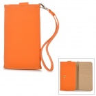 Wallet-Style PU Leather Case w/ Strap / Card Slot for Samsung S3 i9300 / S4 i9500 / S5 - Orange