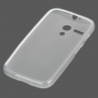 Protective TPU + PVC Back Case for MOTO G / MOTO DVX / XT1031 / XT1032 - Translucent White