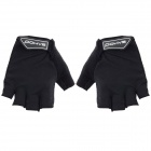 SAHOO 41413 Protective Half-finger Mesh Glove for Cycling - Black (XL / Pair)