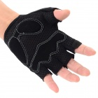SAHOO 41413 Protective Half-finger Mesh Glove for Cycling - Black Grey (XL / Pair)