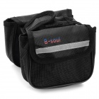 Convenient Oxford Fabric Top Tube Bag for Bicycle - Black + Silver