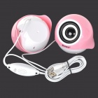 Music-f V-23 High Quality Stereo USB 2.0 Speakers - White + Pink + Multi-Colored