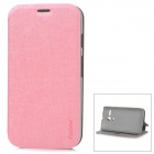 PUDINI LX-0308 Stylish Protective PU Leather + PC Case for MOTO G - Pink