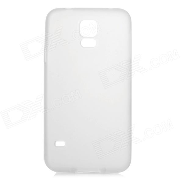 0.1mm Ultrathin Protective TPU Back Case for Samsung Galaxy S5 - Translucent White protective silicone case for nds lite translucent white