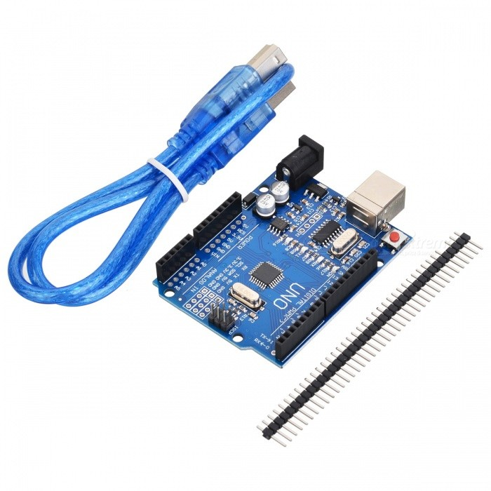 купить Development Board w/ Data Cable for Arduino UNO R3 - Deep Blue (Cable-52cm) недорого