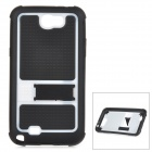 Protective TPU + PC Back Case for Samsung Galaxy Note 2 / N7100 - Black + White
