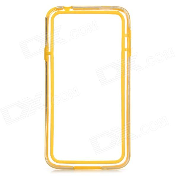 S-What Protective TPU + PC Case Cover for Samsung Galaxy S5 - Yellow + Translucent protective tpu pc bumper frame for samsung galaxy s5 mini green