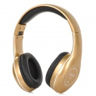 KOMC S8 Universal Fashion 3.5mm Headband Earphone w/ Microphone - Golden + Black