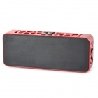 Portable Wireless Bluetooth v2.1 Bass Speaker for IPHONE / IPOD / Computer - Red + Black