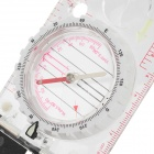 258 Multifunctional Compass w/ Ruler + Mirror + Magnifier + Noctilucence + Measuring Scale - Grey