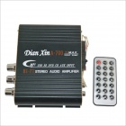 A-700 Hi-Fi Stereo Audio Amplifier SD / USB for Car / Motorcycle - Black + White