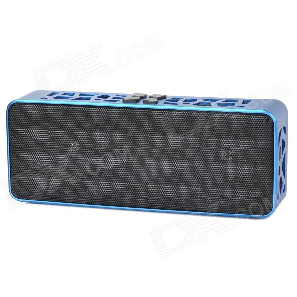 Portatile Wireless Bluetooth v 2.1 Bass Speaker per IPHONE / IPOD / Computer - blu + nero