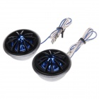 TiaoPing TP-066 20W High Frequency Car Audio Speaker - Silver + Black + Blue (Pair / 12V)