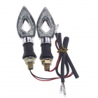Waterproof DIY 1W 112lm 9-LED Motorcycle Yellow Light Steering Lamp - Black + Silver (12V / 2 PCS)
