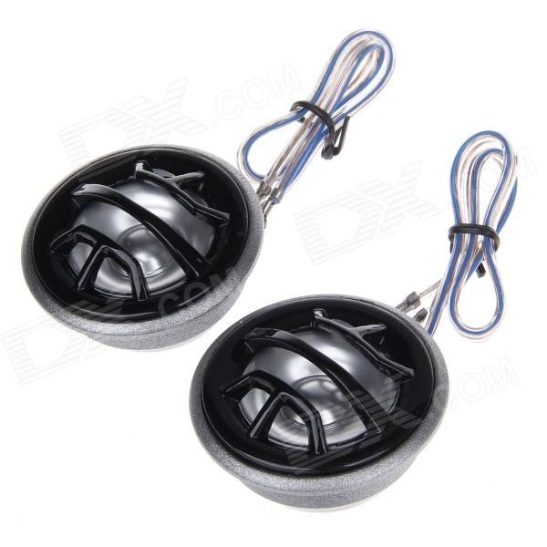 TiaoPing TP-077 20W High Frequency Car Audio Speaker - Silver + Black (Pair / 12V)