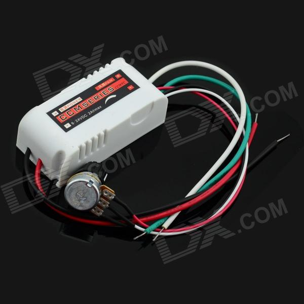 MaiTech Fans 5V / 12V / 24V 2A DC Motor Speed Controller - WhiteDIY Parts &amp; Components<br>BrandMaiTechQuantity1 DX.PCM.Model.AttributeModel.UnitForm ColorWhiteMaterialPlasticEnglish Manual / SpecNoCertificationNOPacking List1 x Speed governor<br>