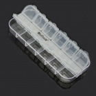 MaiTech 12 Grid Storage Box / Small Jewelry Box - Transparent