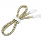 CMI GMX-005 USB to Micro USB Data Charging Flat Cable - Grey + White (117.3cm)