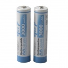 GOOD Rechargeable 1.2V 2300mAh Ni-MH AA Batteries - White + Blue (2 PCS)