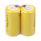 Rechargeable SC NI-MH 2500mAh 1.2V Batteries w/ Solder Tags - Yellow (2 PCS)