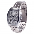 SPEATAK SP9026G Vouge Men's Stainless Steel Band Quartz Wrist Watch w/ Date Display - Silver